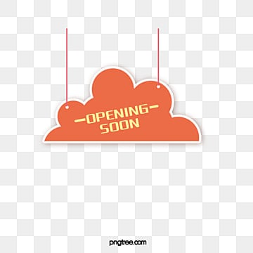 suspended grand opening label elements, Cloud Shape, Element, Practice PNG and Vector