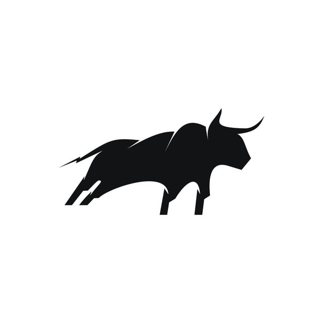 Bull Silhouette Logo, Bull, Head, Animal PNG and Vector with