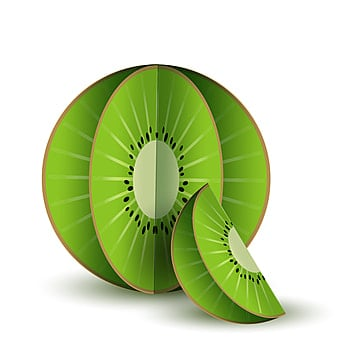 fruits 3d paper cut isolated object, Vector, Fruits, Food PNG and Vector