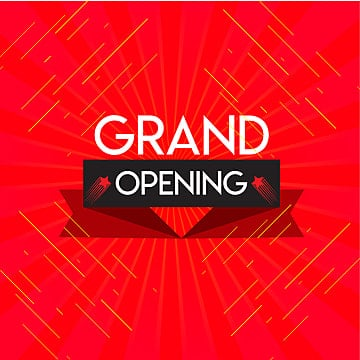 grand opening red, Opening Soon, Open, Soon PNG and Vector