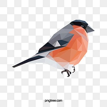 vector polygon animal orange bird, Animal, Lovely, Pattern PNG and Vector