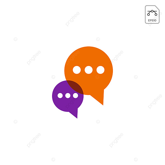 Chat Message Speech Conversation Logo Or Icon Vector