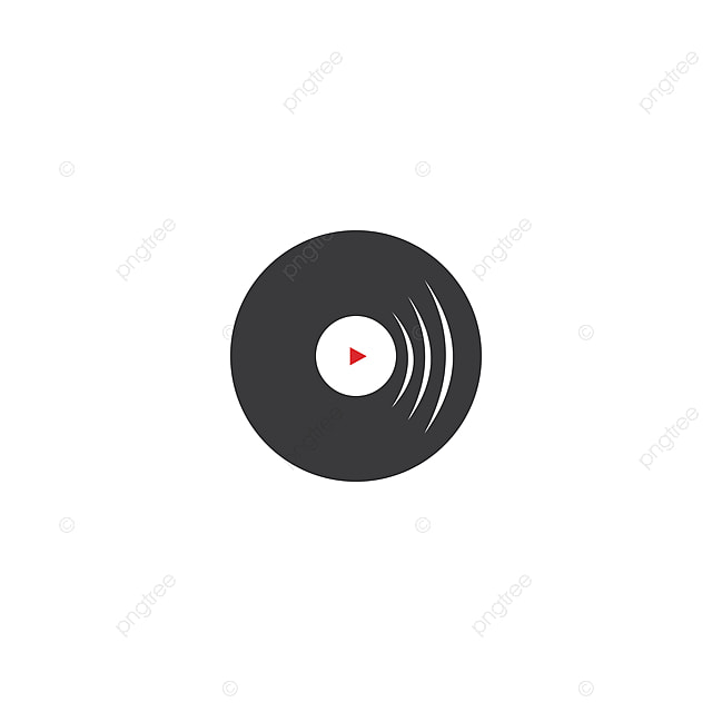 Vinyl Record Logo Icon Vector, Vector, Music, Icon PNG and