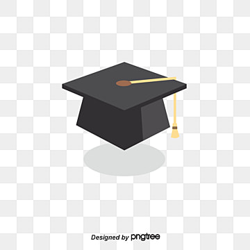 black bachelors cap vector element, Element, University, Bachelor PNG and Vector