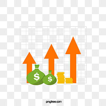 creative hand drawn arrow fund rise chart, Rise, Fund, Hand Painted PNG and Vector