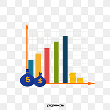 creative hand drawn columnar fund rise chart, Rise, Fund, Hand Painted PNG and Vector
