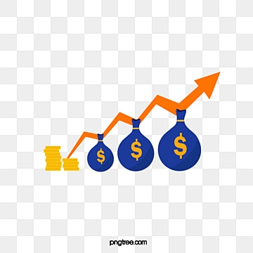creative hand drawn fund rise chart, Rise, Fund, Hand Painted PNG and Vector