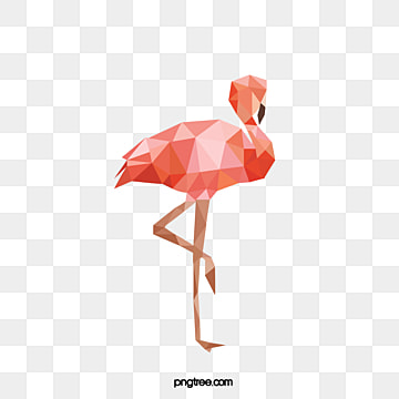 creative hand painted polygon animal flamingo, Creative, Animal, Polygon PNG and Vector