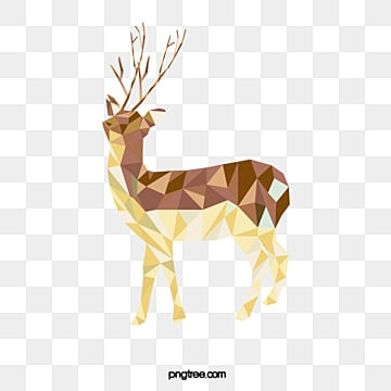 hand painted vector polygon elk, Animal, Khaki, Polygon PNG and Vector