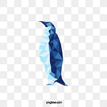 hand painted vector polygon penguin, Penguin, Animal, Polygon PNG and Vector