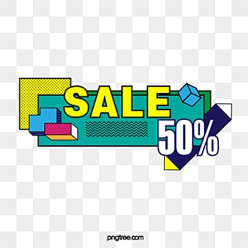 memphis style discount label, Promotion, Memphis, Color PNG and Vector