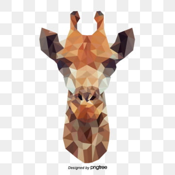 polygonal yellow giraffe, Geometry, Animal, Giraffe PNG and Vector