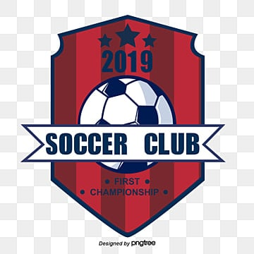 red blue creative football club elements, 2019, Club, Geometric PNG and Vector
