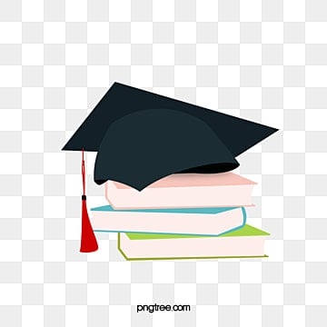 vector cartoon hand painted graduation hat books, Book, Cartoon, Hand Painted PNG and Vector
