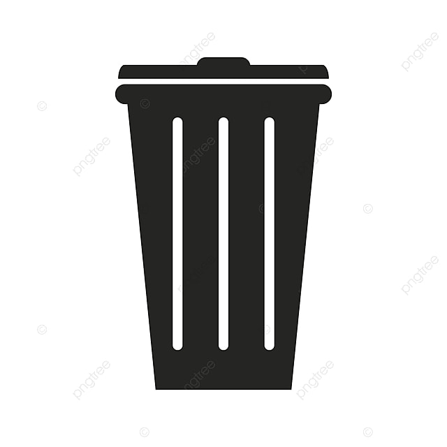 Trash Bin Icon, Clean, Thin, Trash PNG and Vector with Transparent ...