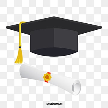 bachelors hat and rolled up diploma, Doctorial Hat, Bachelor Cap, Education PNG and Vector