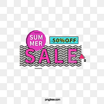 black side colored memphis summer promotion label, Promotion, Geometric, Business PNG and Vector