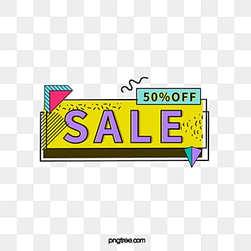 colour geometry black edge memphis promotion label, Promotion, Geometric, Memphis Style PNG and Vector