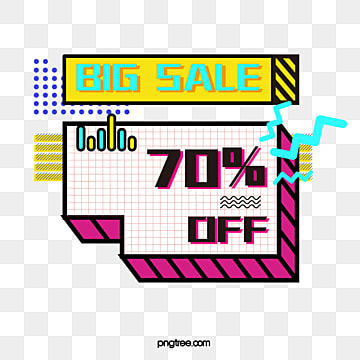 memphis style discount label for coloured solid geometry, Note, Geometric Pattern, Memphis PNG and Vector