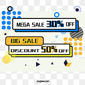 memphis style geometric discount label, Note, Geometric Pattern, Memphis PNG and Vector