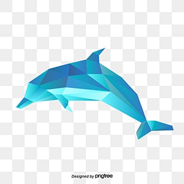 polygonal animal blue gradient dolphin, Polygonal Animals, Dolphin, Simple Style PNG and Vector