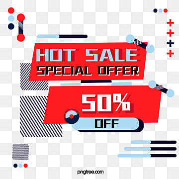 red background memphis geometric patterns discount label, Note, Geometric Pattern, Memphis PNG and Vector
