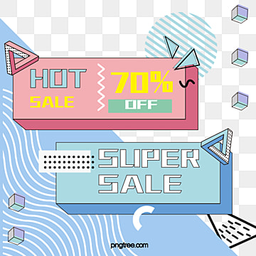 summer fresh memphis style stereo geometry discount promotion vector label, Note, Geometric Pattern, Summertime PNG and Vector