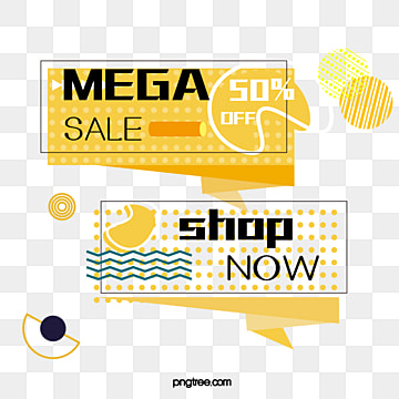 yellow background memphis style shopping discount promotion label, Note, Geometric Pattern, Memphis PNG and Vector