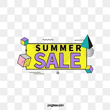 yellow geometry black edge memphis summer promotion label, Triangle, Geometric, Summer Promotion PNG and Vector