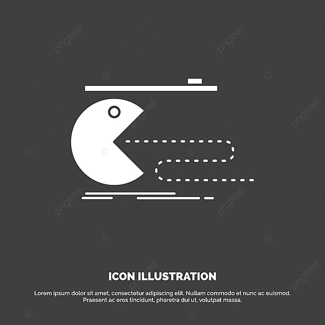 Character Computer Game Gaming Pacman Icon Glyph Vector Sym