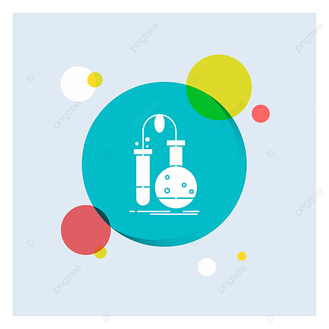 Testing Chemistry Flask Lab Science White Glyph Icon Colorfu