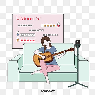 hand painted girls playing guitar live on, Guitar, Girl, Dialog Box PNG and Vector