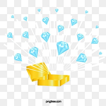blue diamond explosion splash illustration elements, Element, Flat Style, Hand Painted PNG and Vector