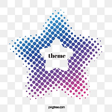creative border of gradual halftone color style, Five-pointed Star, Halftone, Dot PNG and Vector