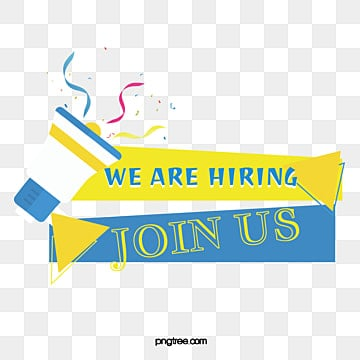 creative recruitment advertisement flat horn ribbon text box to recruit promotional information to join us, Join Us, Horn, Coloured Ribbon PNG and Vector