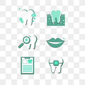 flat medical dental icon combination, Medical Care, Medical Icon, Flat Icon PNG and Vector