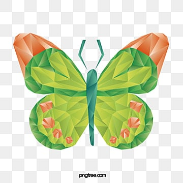 gradual polygon geometric butterfly, Low Polygon, Geometric, Animal PNG and Vector