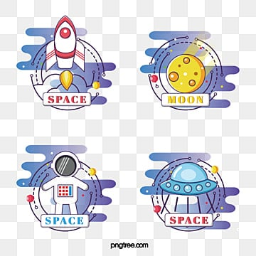 lovely space series label group, Lovely, Space, Spacecraft PNG and Vector