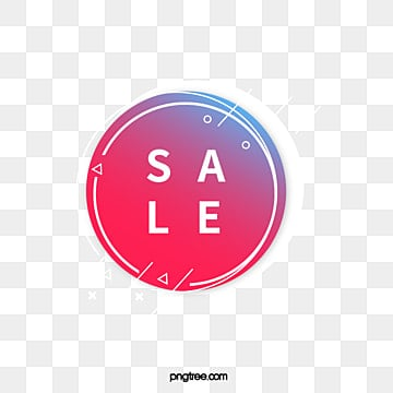 white edge color round geometric promotion label, Promotion, Geometric, Business PNG and Vector