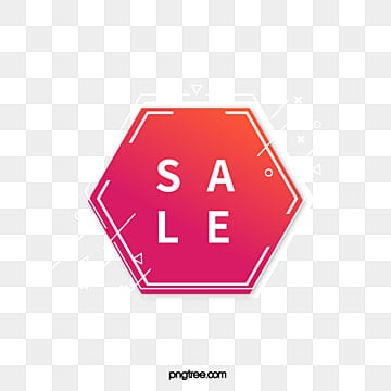 white edge red hexagon promotion label, Promotion, Hexagon, Geometric PNG and Vector