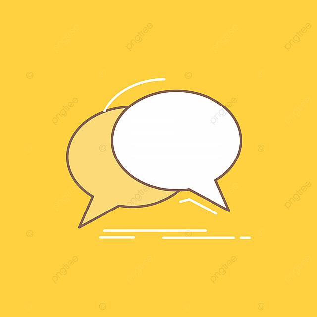 Bubble Chat Communication Speech Talk Flat Line Filled Icon