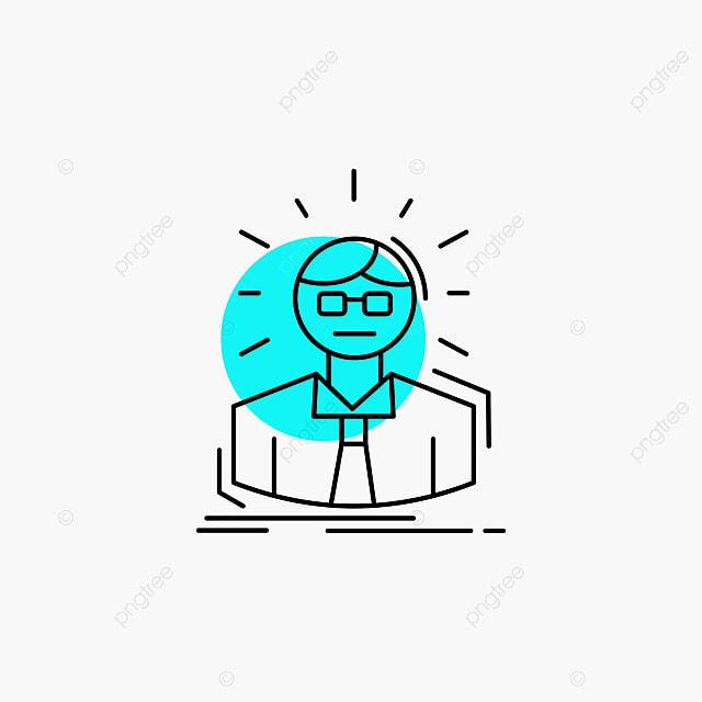 Hombre De Negocios En Linea Icon Doctor Empleado Manager