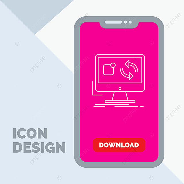 Update,app,application,install,sync Line Icon In Mobile For