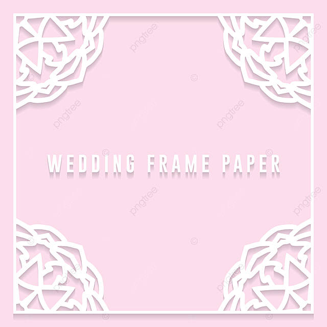 Lace Frame With Cutout Paper Decoration Vector Greeting Card Or