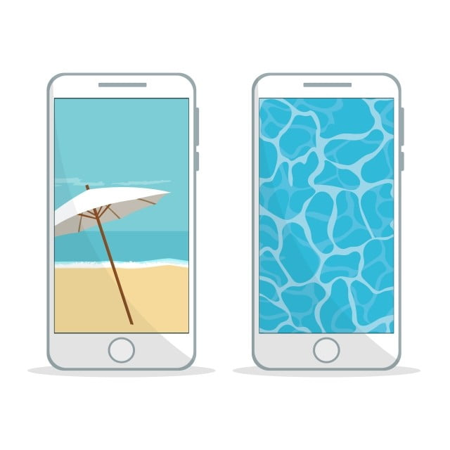 Mobile Phone Design With Beach Wallpaper Summer Sale Mobile
