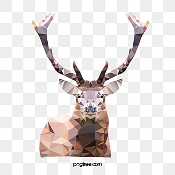 low poly polygonal deer, Polygonal-deer, Abstract, Geometric PNG and Vector
