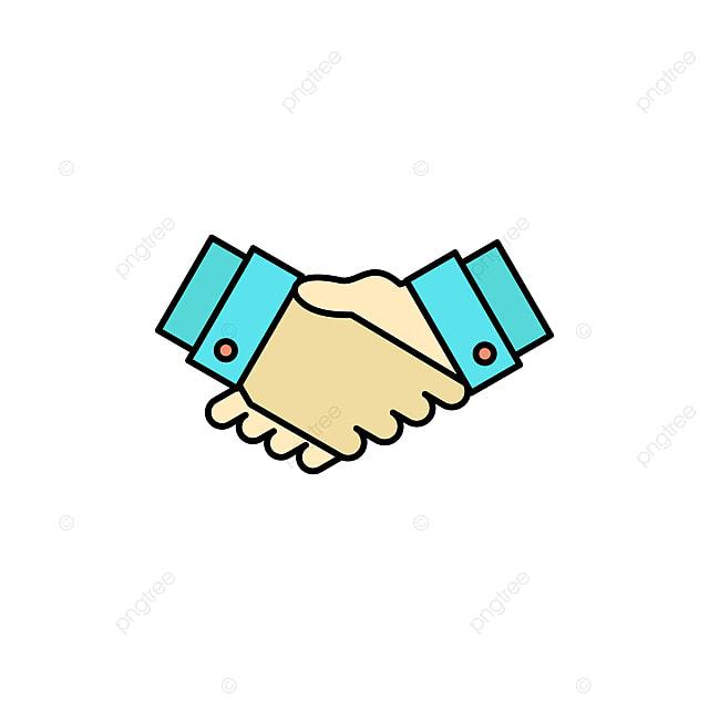 Acuerdo Negocio Trato Apretón De Manos Icono De Compañero De Piso ...