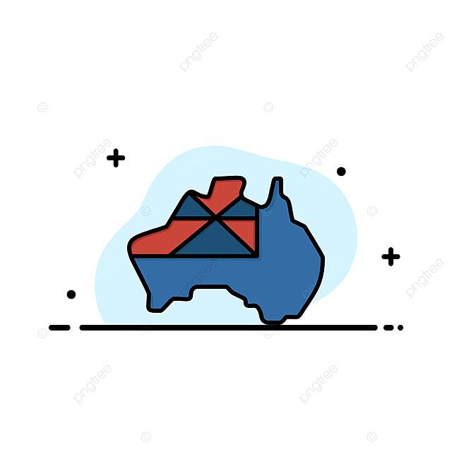 Map Of Australia Logo.Australia Map Country Flag Business Logo Template Flat Color Asia