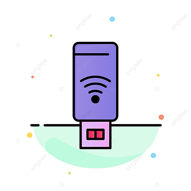 Wifi Service Plans >> Usb Wifi Service Signal Abstract Flat Color Icon Template