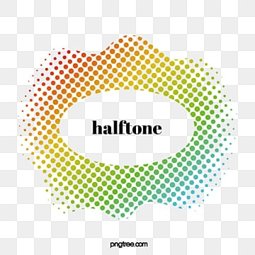Halftone irregular geometric border text box, Geometric, Halftone, Dot PNG and Vector